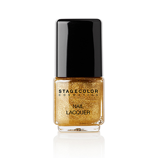 Nail Lacquer Golden Glitter